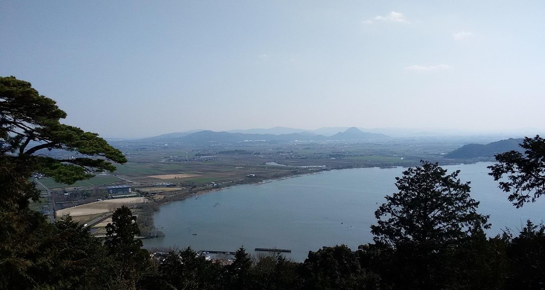 長命寺(太郎坊権現祠からの眺め)