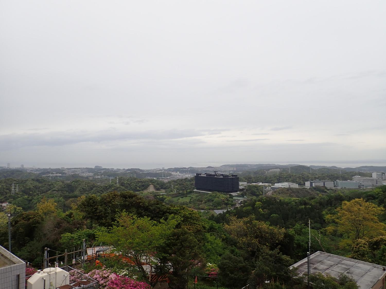 右は猿島?!下に見えるのはYRP(横須賀リサーチパーク)